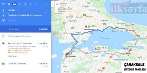 istanbuldan çanakkale ye kac km-1