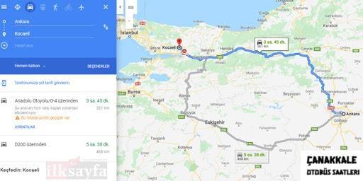 kocaeli'den çanakkale kaç km-1